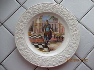 Assiette 1920's Antony made England 9'' dia.