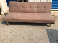 Brown Reclining Futon Sofa Couch Bed