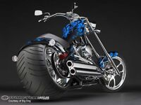 muffler chopper,moteurS&S,pneus330mm,supertrapp ,rsd,NEUF!!!!!!!