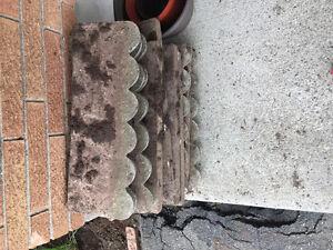 Outdoor cement pieces for garden