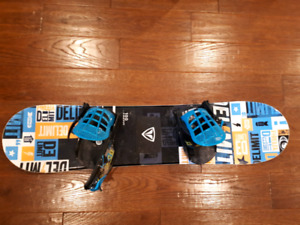 Youth firefly snowboard 100cm k2 bindings DC boots package