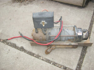 Warn 5000 lb Electric Winch with remote - $200