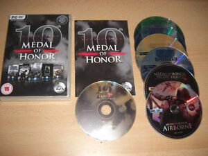 MINT 10TH ANNIVERSARY MEDAL OF HONOR PC GAMES UP 4 SALE OR TRADE