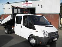 62 REG FORD TRANSIT CREW D/CAB ONE STOP DROPSIDE TIPPER, 125PS, EURO 5!