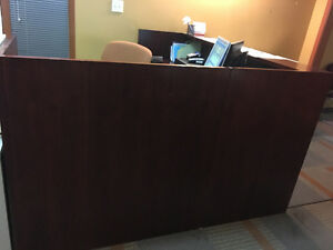 Solid cherry wood reception desk