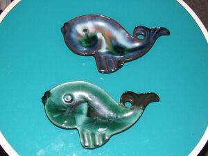 2 Blue Mountain Pottery Fish Dishes - $12.00 For BOTH !!!