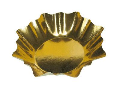 gold Weihnachten Alubeschichtet Ø 28 cm (71490) (Pappteller Weihnachten)