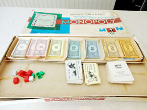 Vintage 1961 Monopoly Board Game (With some bonus other money) Kitchener / Waterloo Kitchener Area image 4