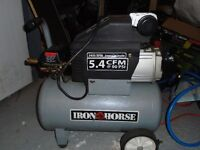 iron horse compressor 2hp 6.5 gal tank 5.4cfm at 90 psi $130 obo