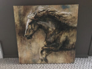 Canvas Art - Abstract Horse