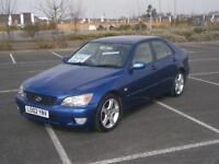 2002 02 LEXUS IS 200 2.0 AUTO SE CAR IN METALLIC BLUE AIR CON LOW MILEAGE