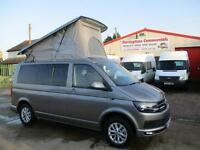 16 reg VOLKSWAGEN TRANSPORTER 140 bhp HIGHLINE AIR-CON CAMPER VAN NEW CONVERSION