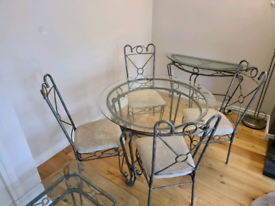 Glass Table, Chairs & Side Tables