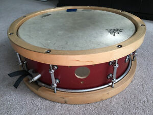 SJC Custom Snare with Wood Hoops!
