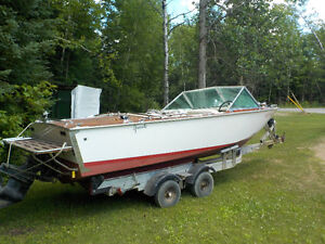 1972 18.5' Greavette with 6 chevy Mercruiser and trailer Kawartha Lakes Peterborough Area image 7