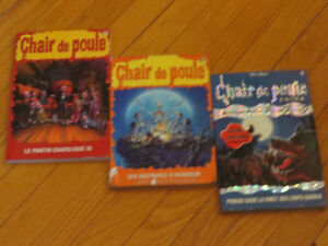 LOT 3 LIVRES  -TRIO   CHAIR DE POULE NO-1-5-37 R.L.STINE
