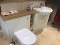 'Shaker' style Cream Bathroom basin/ wc unit - BRAND NEW!