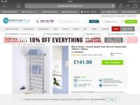 Milano Pendle - Chrome Heated Towel Rail with Heated shelf