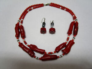 Stunning Deep Red Branch Coral Necklace Appraised at $1100.00!