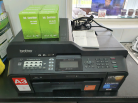 Brother MFC-j6510DW All in One Printer + 8 back ink cartridges