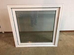 Dual pane awning window
