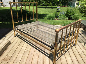 Antique Brass Bed c1870 Stratford Kitchener Area image 1