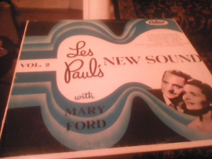 VINTAGE Les Paul LP Record with Mary Ford-LOOK