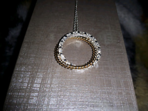 Charm Diamonds Gold and Silver necklace!
