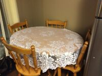 Kitchen table set and chairs