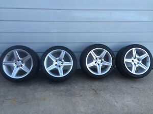 """18"""" Staggered AMG Rims and Michelin Tires"""