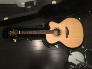 Takamine Pro 5 Series Acoustic Guitar with pickup and OHSC