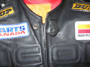 "Black Leather ICON ""Burner"" Motorcycle Jacket London Ontario image 5"