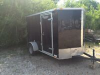 Nice enclosed cargo trailer for rent