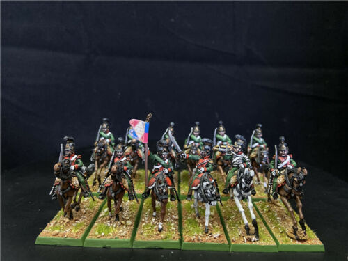 1/56 28mm Napoleonic War DPS painted French Chasseurs a cheval GH2161