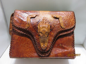LARGE SELECTION OF VINTAGE ALLIGATOR PURSES ON SALE THIS WKND