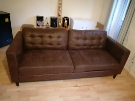 For sale my brown sofa I got a new one coming this week so need it