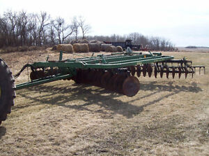 230  John Deere Tandem Disc with Mounted Harrows