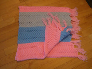 BEAUTIFUL HAND-CROCHETED COLORFUL COMFY SHOULDER WRAP
