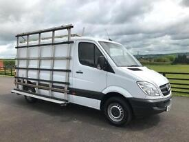Mercedes-Benz Sprinter 313CDI MWB w GLAZING RACK 2013 (13) Reg 73th miles White