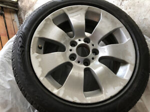 "BMW E90 Mags & 17"" Pirelli Sottozero Run Flat Snow Tires - $900"