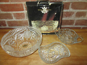 BEAUTIFUL 24% GENUINE LEAD CRYSTAL (Made in Germany) BOWL PLUS 2 Stratford Kitchener Area image 1