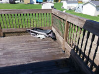 Selling 2 x 6 x 16 Lumber, Wooden Hand Rail and Steps Assembled