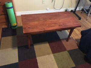 Homemade pine coffee table( stained) $100 or best offer