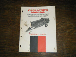 New Holland 212-327 Manure Spreader Operators Manual