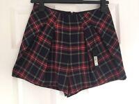 BNWT River Island tartan shorts size 10 cost £30