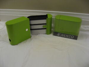 Bento stylish lunch box unit-NEW-Green or Blue-2/$35