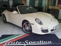 2010 Porsche 911 3.8 997 Carrera 4S Cabriolet PDK 2dr Petrol white Semi Auto