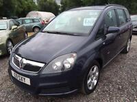 2006 VAUXHALL ZAFIRA 1.6i Club 7 SEATER 12 MONTHS MOT and WARRANTY