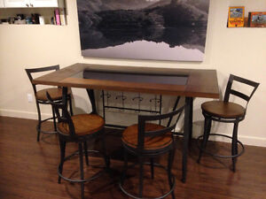 Beautiful  table with  glass insert,