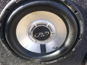 "Subs 12"" with 1400W amp"